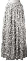 Brunello Cucinelli frayed maxi skirt - women - Silk/Polyamide/Polyester/Metallized Polyester - 40