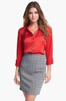 Vince Camuto Mixed Media Shirt (Nordstrom Exclusive)