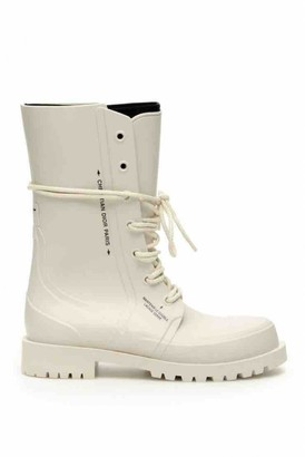 Christian Dior Camp White Rubber Ankle boots