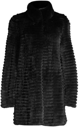 Glamour Puss Rex Rabbit Fur Corded Coat