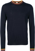 Paul Smith striped trim jumper - men - Merino - XS
