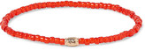 Luis Morais Glass Bead Gold Bracelet - Red