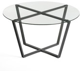 clear Moby Cross Legs Coffee Table Ebern Designs Top Color