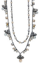 Nanette Lepore Faux-Pearl Accented Double Nested Necklace