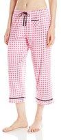 Jockey Women's Printed Cotton Rayon Capri Pant
