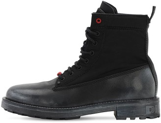 Diesel Leather Lace-Up Boots