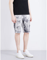 Stone Island Hand Corrosion Relaxed-fit Cotton Shorts