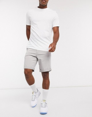 Jack and Jones Intelligence chino short in light grey