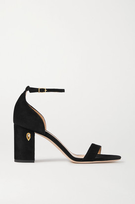 Jennifer Chamandi Massimo 85 Suede Sandals - Black
