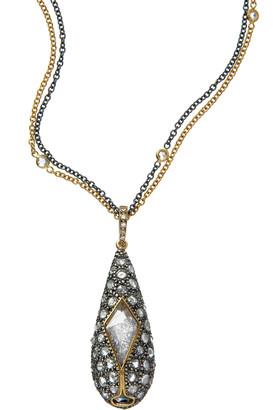 Moritz Glik 18K Gold, Blackened Silver, Diamond And Sapphire Necklace
