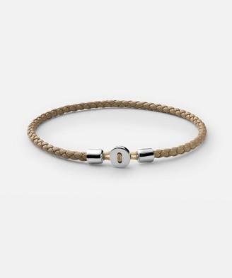 Miansai Nexus Sterling Silver Leather Bracelet in Natural