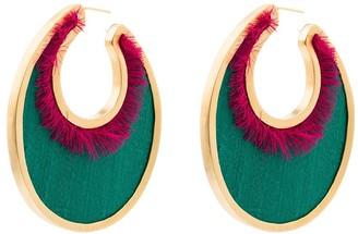 Katerina Makriyianni 24kt Gold-Plated Oval Earrings