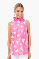 Tuckernuck Pink Italian Floral Jacquard Mason Blouse