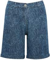 M&Co Paisley print denim shorts