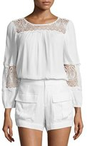 Joie Coastal Embroidered-Lace Top