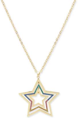 "Thalia Sodi Gold-Tone Mobile Star Long Pendant Necklace, 32"" + 3"" extender"