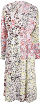 Lala Berlin Patchwork Floral-Print Dress