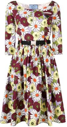 Prada Floral Print Dress