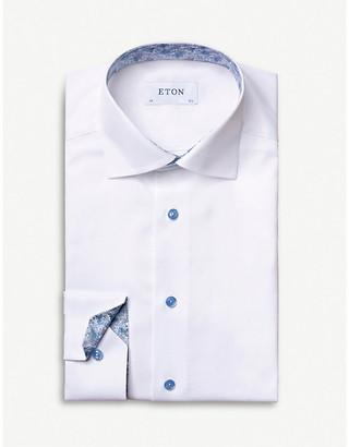 Eton Graphic-print contemporary-fit cotton shirt