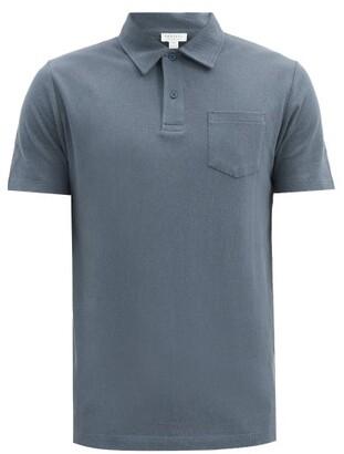 Sunspel Riviera Cotton-pique Polo Shirt - Dark Blue