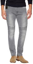 Moto Button Jeans
