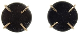 Melissa Joy Manning Black Druzy Agate Stud Earrings