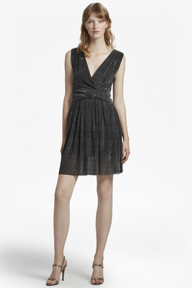 French Connection Marcelle Shimmer Jersey V Neck Dress