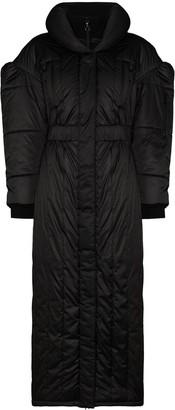Marine Serre High-Neck Puffer Coat