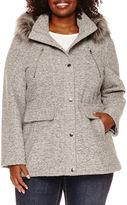 A.N.A a.n.a Faux-Fur Trim Anorak Wool-Blend Coat - Plus