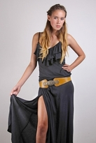 Nightcap Clothing High Thigh Ruffle Dress in Ash