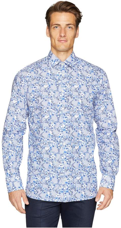 Eton Contemporary Fit Floral Printed Shirt Men's Clothing