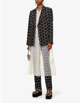 Erdem Graphic-print stretch-woven jacket
