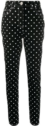 Balmain Polka Dot Denim Jeans
