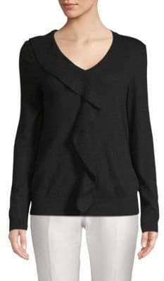 Saks Fifth Avenue Ruffled V-Neck Sweater