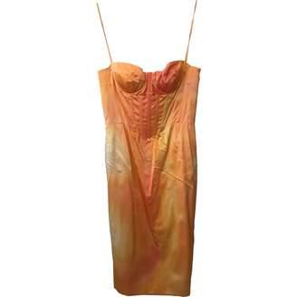 Louis Vuitton \N Orange Silk Dress for Women