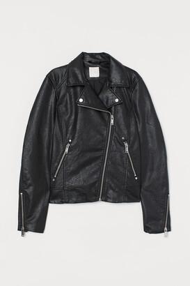 H&M Imitation leather biker jacket