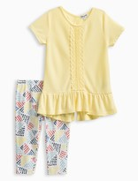 Splendid Little Girl Flounce Top with Leggings Set