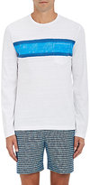 Orlebar Brown Men's Robby Cotton Long-Sleeve T-Shirt-WHITE, BLUE, NAVY