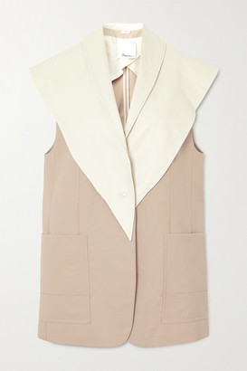 3.1 Phillip Lim Convertible Wool-blend And Leather Vest - Beige