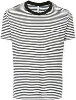 Attachment striped fitted T-shirt