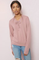 Garage Lace Up Sweatshirt