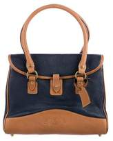 Ghurka Bicolor Leather Handle Bag