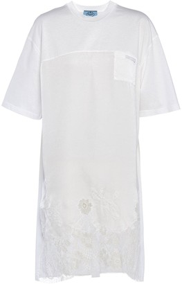 Prada Floral-Lace Shift Dress