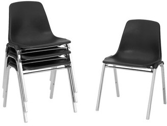 Armless 8100 Series Stackable Chair National Public Seating Seat Finish: Black