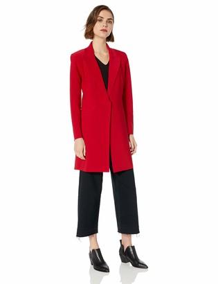 Norma Kamali Women's Single Breasted Coat to Knee red XXS
