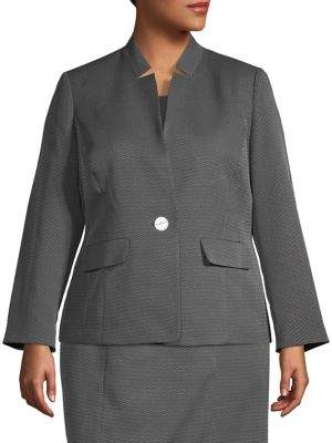 Kasper Plus Button-Front Jacket