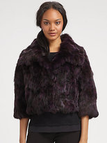 Saks Fifth Avenue Collection Rabbit-Fur Jacket