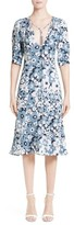 Michael Kors Women's Floral Print Silk Fit & Flare Dress