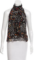 Intermix Printed Silk Top
