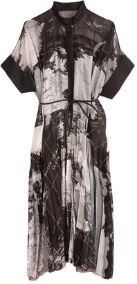 Sacai World Map Dress in Black